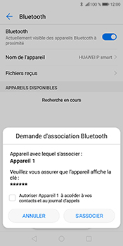 Huawei P Smart - Bluetooth - connexion Bluetooth - Étape 10