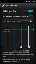 Sony Xperia J - Internet - Ver uso de datos - Paso 8