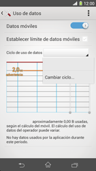 Sony Xperia Z1 - Internet - Ver uso de datos - Paso 6