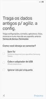 Samsung Galaxy A50 - Primeiros passos - Como ativar seu aparelho - Etapa 8