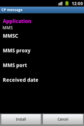 Samsung S7500 Galaxy Ace Plus - MMS - Automatic configuration - Step 6