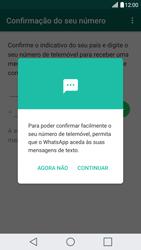LG G5 - Aplicações - Como configurar o WhatsApp -  11