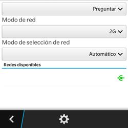 BlackBerry Q5 - Red - Seleccionar el tipo de red - Paso 8