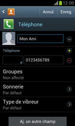 Samsung Galaxy Trend - Contact, Appels, SMS/MMS - Ajouter un contact - Étape 10