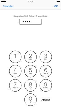 Apple iPhone 7 Plus - Segurança - Como ativar o código PIN do cartão de telemóvel -  7