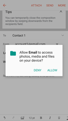 Samsung Samsung G920 Galaxy S6 (Android M) - E-mail - Sending emails - Step 11