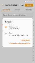 Samsung Galaxy S7 - Android Nougat - Mensajería - Escribir y enviar un mensaje multimedia - Paso 6