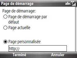 HTC S521 Snap - Internet - Configuration manuelle - Étape 13