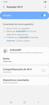 Samsung Galaxy A20 - Wi-Fi - Como usar seu aparelho como um roteador de rede wi-fi - Etapa 12