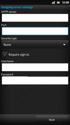 Sony LT22i Xperia P - E-mail - Manual configuration - Step 12