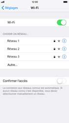 Apple iPhone 7 iOS 11 - Wifi - configuration manuelle - Étape 4