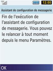 Samsung C3350 Xcover 2 - E-mail - Configuration manuelle - Étape 17