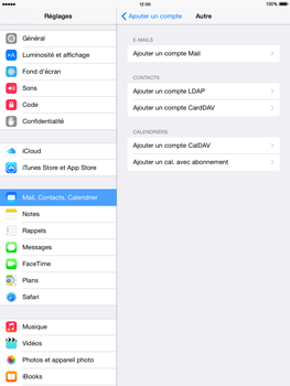 Apple iPad Air iOS 8 - E-mail - Configurer l