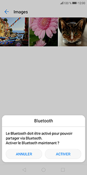 Huawei P Smart - Photos, vidéos, musique - Envoyer une photo via Bluetooth - Étape 10