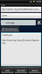 Sony Ericsson Xperia Ray - Email - Sending an email message - Step 11