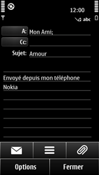 Nokia 500 - E-mail - envoyer un e-mail - Étape 8