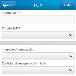 BlackBerry Q5 - E-mail - Configurar correo electrónico - Paso 14