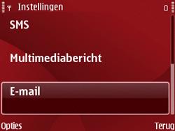Nokia E63 - E-mail - Handmatig instellen - Stap 7