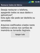 Motorola Master XT605 - Funções básicas - Como restaurar as configurações originais do seu aparelho - Etapa 9