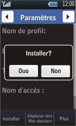 Samsung S5620 Monte - MMS - Configuration automatique - Étape 5