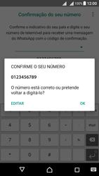 Sony Xperia X Dual SIM (F5122) - Aplicações - Como configurar o WhatsApp -  11