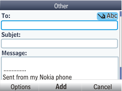Nokia Asha 201 - E-mail - Sending emails - Step 7