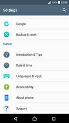 Sony Xperia X - Android Nougat - Device maintenance - Create a backup of your data - Step 4