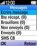 Alcatel OT-1035 - Contact, Appels, SMS/MMS - Envoyer un SMS - Étape 4