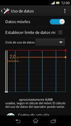 Sony Xperia L - Internet - Ver uso de datos - Paso 5