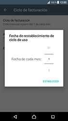 Sony Xperia XZ - Android Nougat - Internet - Ver uso de datos - Paso 7
