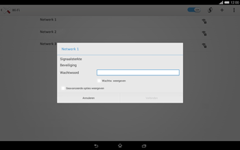 Sony Xperia Tablet Z2 4G (SGP521) - WiFi - Handmatig instellen - Stap 7