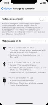 Apple iPhone X - Internet et connexion - Partager votre connexion en Wi-Fi - Étape 4
