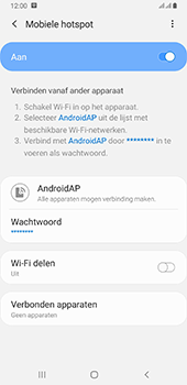 Samsung galaxy-a6-plus-sm-a605fn-ds-android-pie - WiFi - Mobiele hotspot instellen - Stap 13