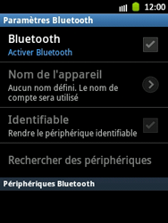 Samsung S5300 Galaxy Pocket - Bluetooth - connexion Bluetooth - Étape 8
