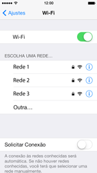Apple iPhone iOS 7 - Wi-Fi - Como configurar uma rede wi fi - Etapa 5