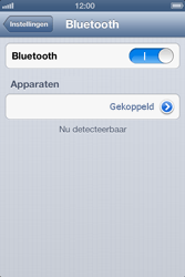 Apple iPhone 4S met iOS 6 (Model A1387) - Bluetooth - Headset, carkit verbinding - Stap 7