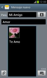 Samsung S7560 Galaxy Trend - Mensajería - Escribir y enviar un mensaje multimedia - Paso 17