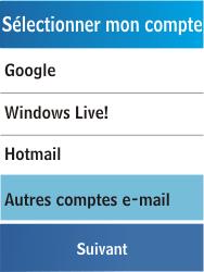 Samsung C3300K - E-mail - Configuration manuelle - Étape 11