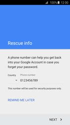 Samsung G925F Galaxy S6 Edge - Applications - Create an account - Step 9