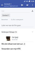 HTC U Play (Model 2PZM3) - E-mail - Hoe te versturen - Stap 17