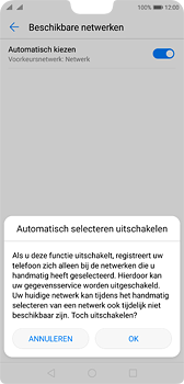 Huawei P20 - Netwerk - Handmatig een netwerk selecteren - Stap 7