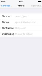 Apple iPhone 6 iOS 8 - E-mail - Configurar Yahoo! - Paso 6