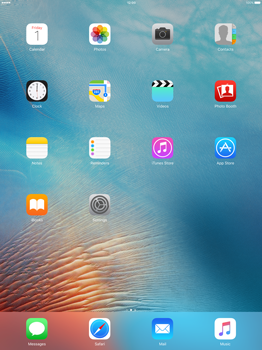 Apple iPad Pro 12.9 (1st gen) - iOS 9 - Internet - Manual configuration - Step 1