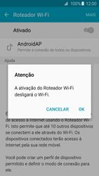 Samsung Galaxy S6 - Wi-Fi - Como usar seu aparelho como um roteador de rede wi-fi - Etapa 11