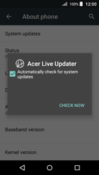 Acer Liquid Z320 - Network - Installing software updates - Step 7