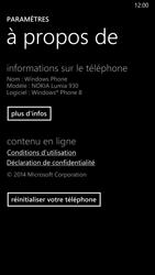 Nokia Lumia 930 - Aller plus loin - Restaurer les paramètres d'usines - Étape 5