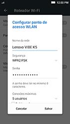 Lenovo Vibe K5 - Wi-Fi - Como usar seu aparelho como um roteador de rede wi-fi - Etapa 6