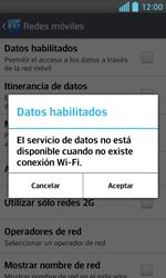 LG Optimus L5 II - Internet - Activar o desactivar la conexión de datos - Paso 7