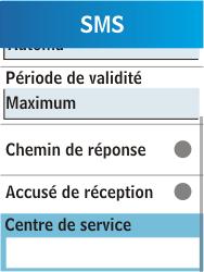 Samsung C3300K - SMS - Configuration manuelle - Étape 6