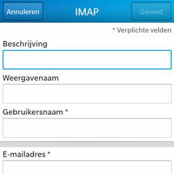 BlackBerry Q5 - E-mail - Account instellen (IMAP zonder SMTP-verificatie) - Stap 8
